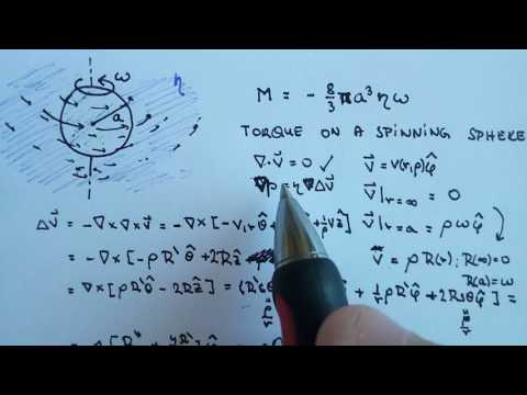 Fluid dynamics   Torque on rotating sphere