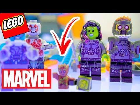 LEGO GUARDIÕES DA GALÁXIA!! ABRINDO LEGO MARVEL SUPER HEROES - The Milano vs The Abilisk (parte 2)