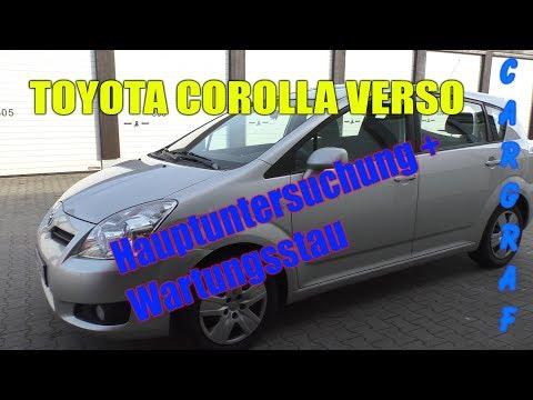 Toyota Corolla Verso - Wartungsstau + Hauptuntersuchung