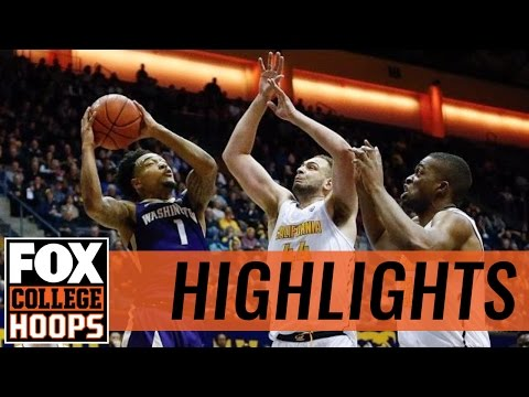 Cal Golden Bears defeat Washington Huskies in Berkeley | 2017 COLLEGE BASKETBALL HIGHLIGHTS