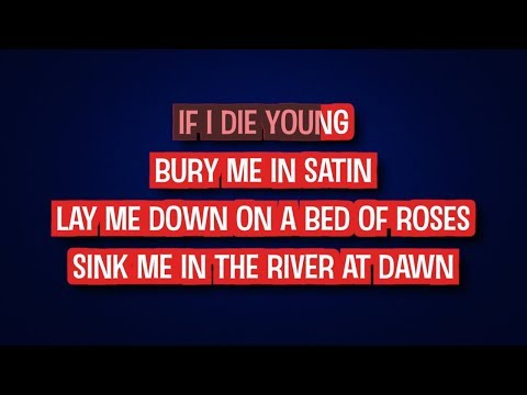 If I Die Young - The Band Perry - Karaoke Version