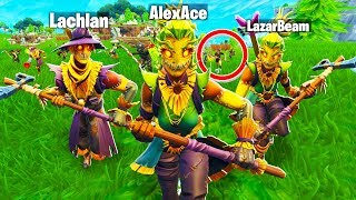 What Happens When The *ENTIRE SERVER* Stream Snipes Lazarbeam, Lachlan & AlexAce In Fortnite?