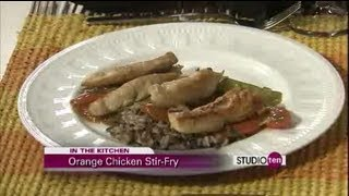 Studio 10: Orange Chicken Stir-fry Over Wild Rice