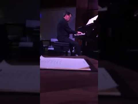 Chip Stephens piano solo break with Dave Dickey Big Band