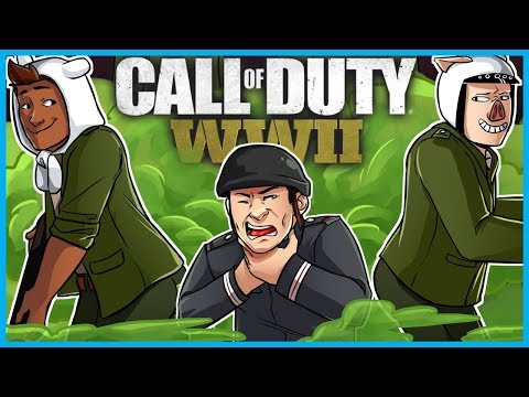 Call of Duty: World War II Funny Moments! - Fart Gas Killcam, Gustav Cannon Trickshot, & RAGE! (WW2)