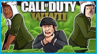 Call of Duty: World War II Funny Moments! - Fart Gas Killcam, Gustav Cannon Trickshot, & RAGE! (WW2)