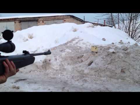 Выстрел из пневматической винтовки Hatsan 125 - mirstrelkov.ru