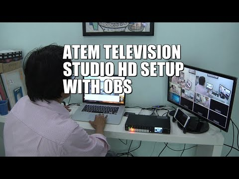 ATEM Television Studio HD Setup with OBS Live Streaming