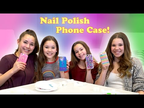 Thumbnail: DIY Nail Polish Phone Case! (Haschak Sisters)