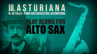 FREE PLAY-ALONG: III. ASTURIANA (M. de FALLA) –  ALTO SAXOPHONE with PIANO (without metronome 👇)