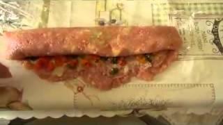 Рецепт Куриный рулет с овощами