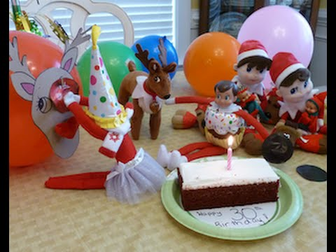 My Elf On The Shelf Surprised Me For My 30th Birthday Party Elf Caught Inside A Balloon Youtube