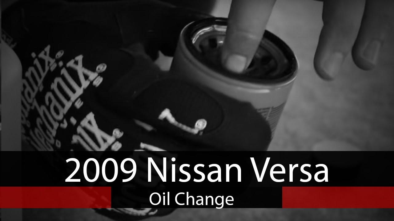 09 nissan versa oil type