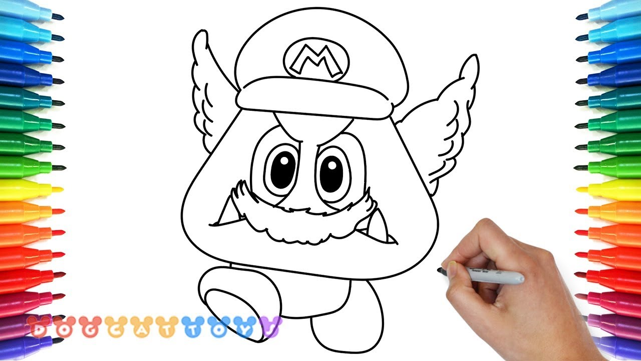How to Draw Super Mario Odyssey Goomba #6 | Drawing Coloring Pages ...