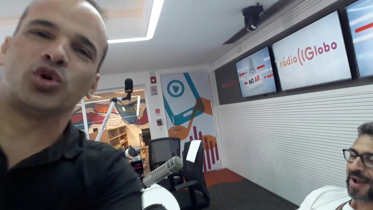 TRABALHANDO NA RÁDIO GLOBO E CURTINDO OS COLEGAS DO TRABALHO. 28/06/2018 TONINHO BONDADE