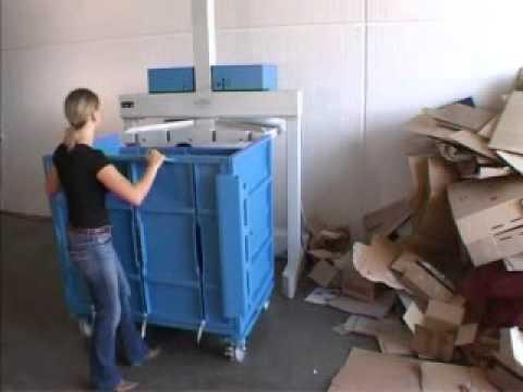 Ballenpresse für Papier, Karton, Folie, Kunststoff - YouTube