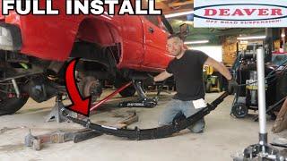 """Full Install Duramax Deaver 4"""" Lift Leaf Springs"""