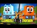 CASA DE GUMBALL VS CASA DE DARWIN no MINECRAFT