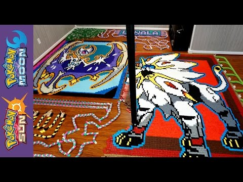 "Thumbnail: Solgaleo & Lunala ""Pokemon of the Month In 25,994 Dominoes!"""