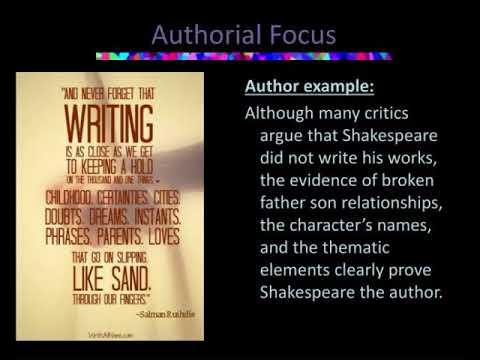 topics for a literary essay