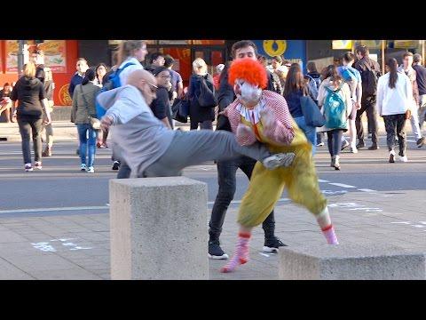 Ronald McDonald Fights Grandpa!