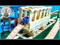 WOODEN BLOCK DIY TRAIN TUNNEL! Fun Toy Trains for Kids!