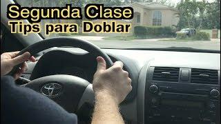 SEGUNDA CLASE DE MANEJO PRACTICA/ CONTROL DEL AUTO AL DOBLAR/CARRO/CONDUCIR/LICENCIA DE MANEJO