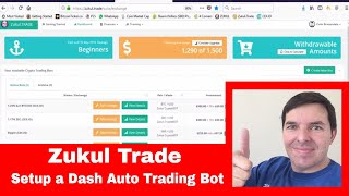 Zukul Trade | How to setup an auto trading bot for DASH crypto currency in Zukul Trade