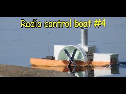 Как сделать радиоуправляемый колесный катер пароход своими руками / Кораблик Секрет Мастера