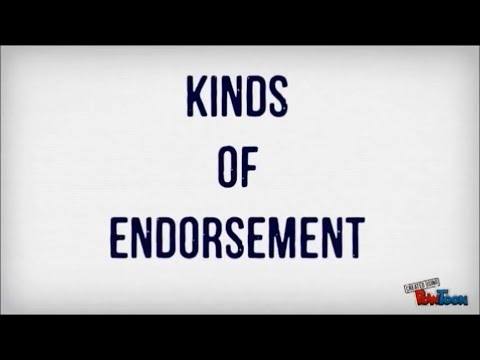 Kinds of Endorsement (Finance 1)