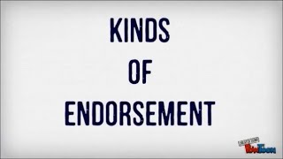 finance kinds of endorsement