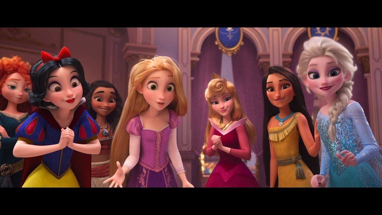 Ralph 2 0 vanellope rencontre les princesses extrait vfq youtube - Toutes les princesse disney ...