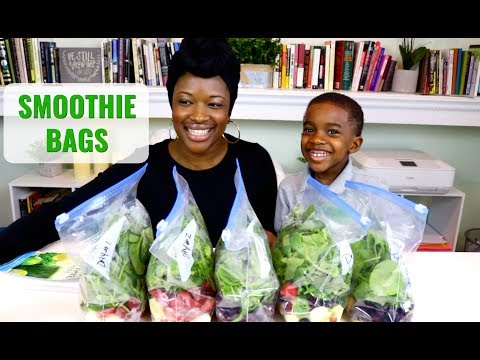 How To Make Smoothie Prep Freezer Bags | Green Smoothie Cleanse
