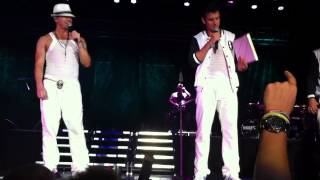 Front Row NKOTB Happy Birthday Donnie 1 Afterparty JON SING MIXTAPE FESTIVAL 2012