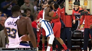 Bradley Beal Draymond Green Fight! Whole Team Jumps In!! Klay Gets Punched! Reaction!!