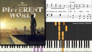 Gambar cover Alan Walker - Different World ft Sofia Carson, CORSAK, k-391 (Piano cover)