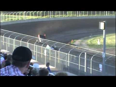NE 360 Sprints / NCRA heat race @ Junction Motor Speedway Tony Rost #99