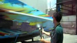 The Farrow System - Stripping Paint from a Speedboat 2