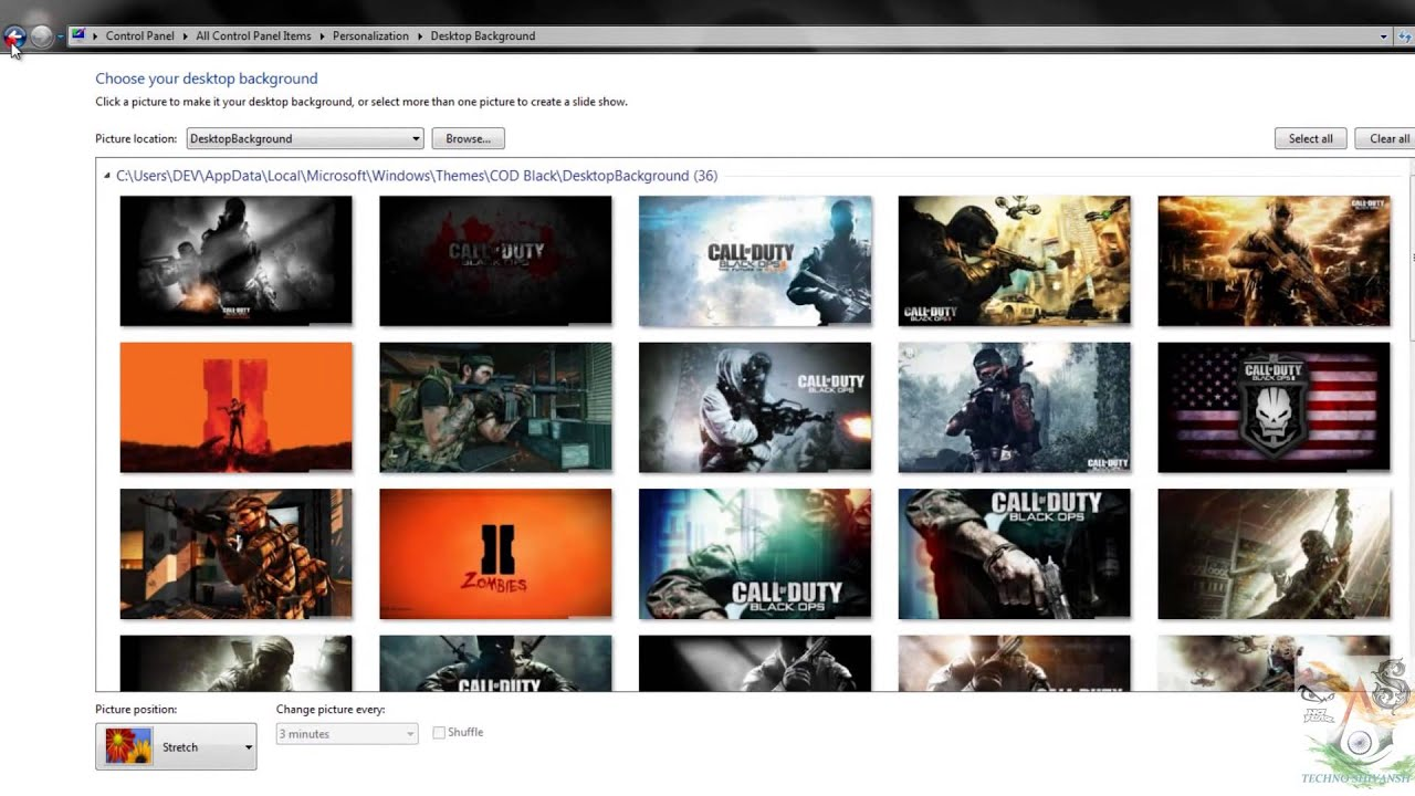 call of duty black ops windows78 10 theme 2014 with cursor