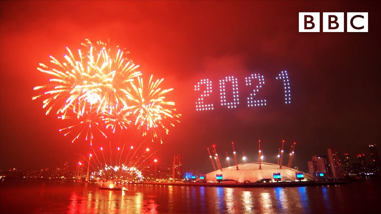 London's 2021 fireworks  Happy New Year Live!  BBC