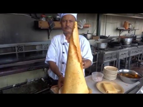 Thumbnail: Indian Street Food, Masala dosa, Paper Masala Dosa, South Indian Food, Dosa, Street food in Vietnam