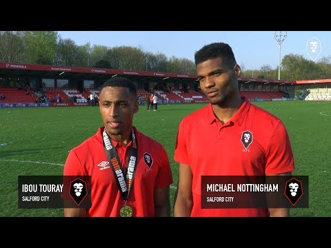 NATIONAL LEAGUE NORTH CHAMPIONS | Reaction from Ibou Touray & Michael Nottingham
