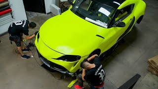 How Difficult Is It To Wrap a 2020 Toyota Supra?! (PART 1)