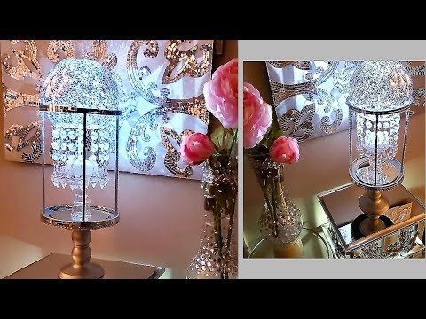 Diy Elegant Crystal  Lighting| Simple, Quick and Inexpensive Home Decor Essentials!