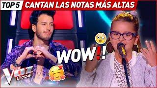 Download lagu SORPRENDIERON a TODOS cuando cantaron LAS NOTAS MÁS ALTAS en La Voz Kids