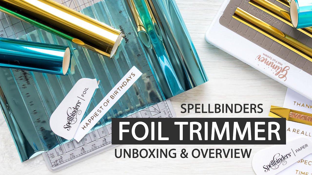 und Papierschneidewerkzeug Spellbinders Quick Trimmer Hei/ßfolien transparent