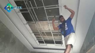 Pasang Rangka plafon Drop ceiling part 2    Plafon Gypsum