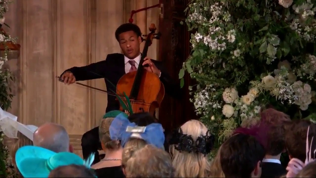 Image result for meghan royal wedding cello player
