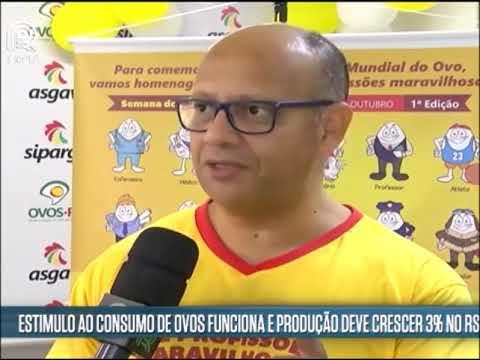 Ovos RS: Entrevista Canal Rural - Semana do Dia Mundial do Ovo 2018