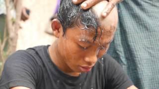 Becoming a Buddhist Monk - Ordination Ceremony - Mrauk-U Myanmar